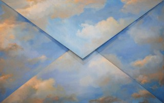 Dariusz Mlącki, Envelope with the Sky, oil on canvas