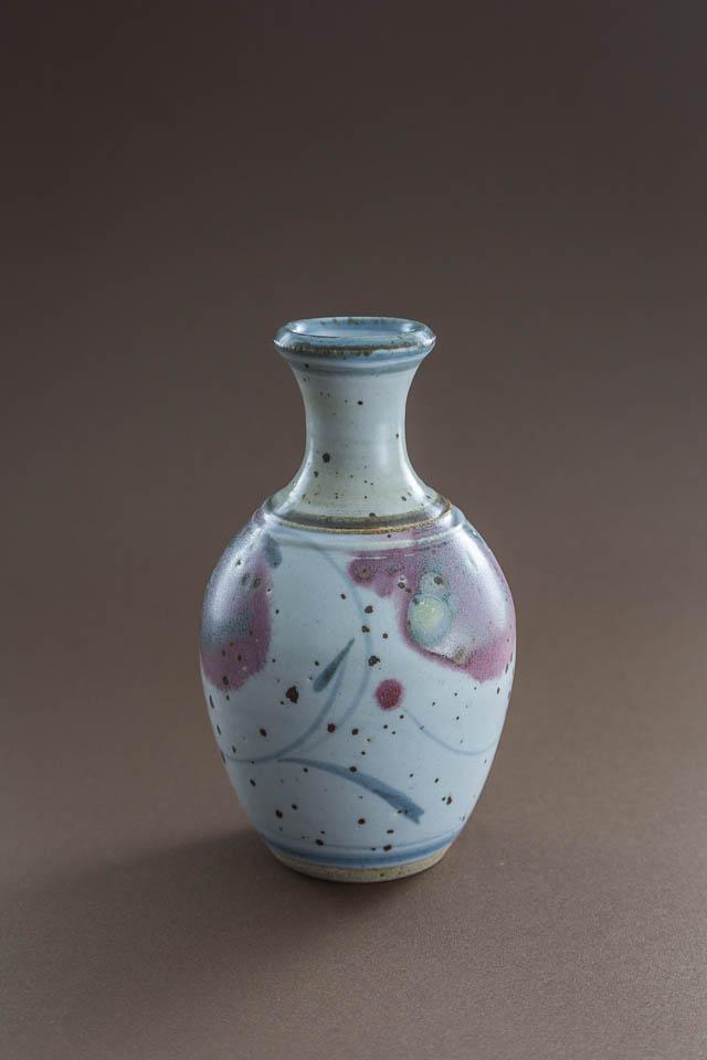 unikatowy, ręcznie malowany, ceramiczny wazonik