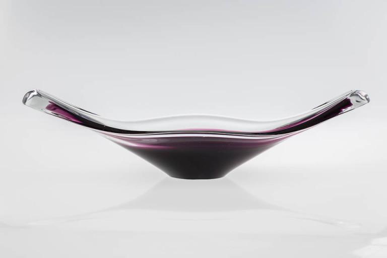 szkło artystyczne – ręcznie formowana patera Murano