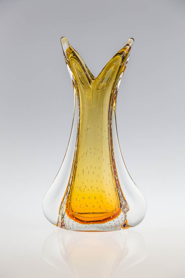 wazon w stylu Murano – ręcznie formowany wazon w stylu Murano