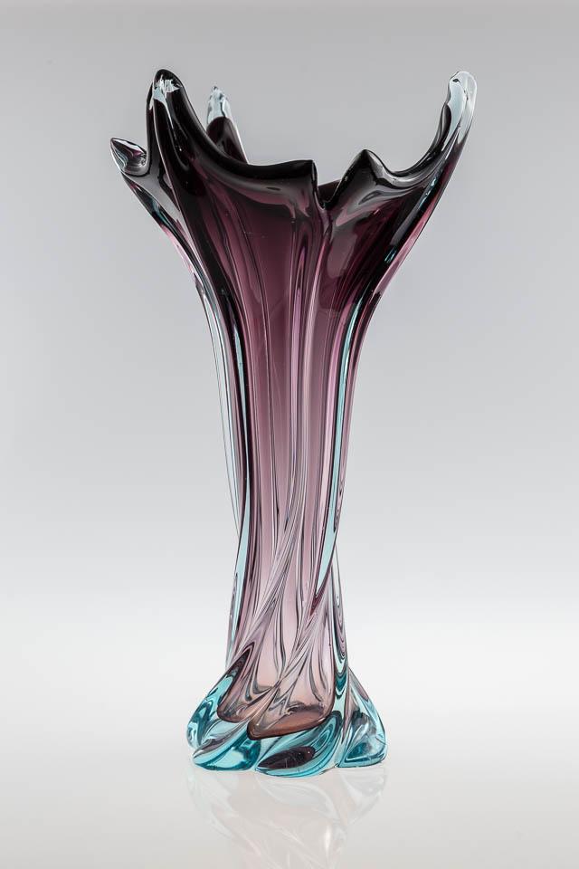 wazon – ręcznie formowane szkło w stylu Murano