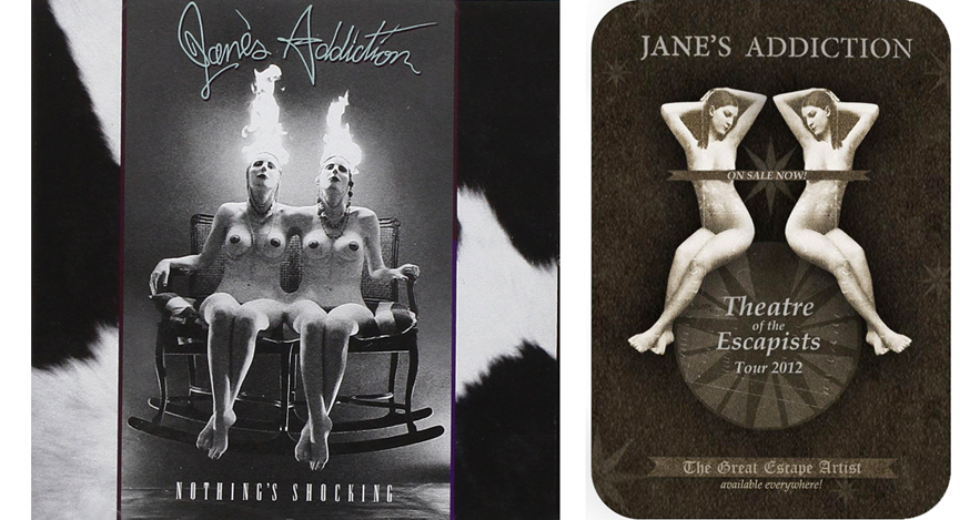 Cover for Jane's Addiction album and Jane's Addiction poster