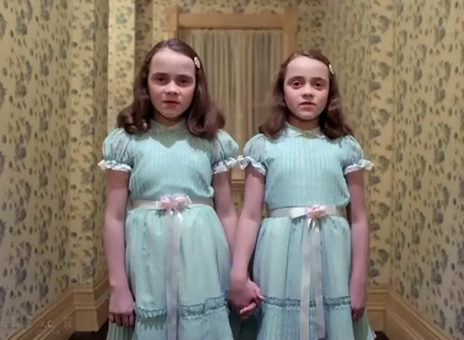 """Scene from """"The Shining"""" by Stanley Kubrick"""
