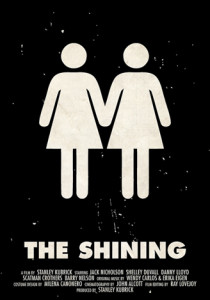 """Viktor Hertz """"The Shining"""" pictogram movie poster"""