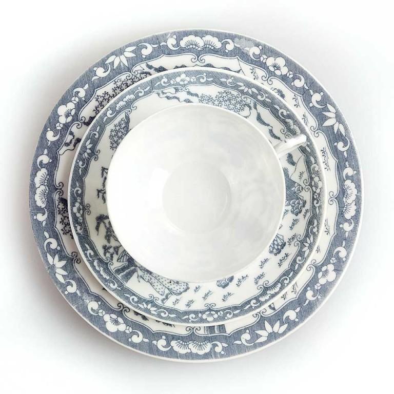 japońska porcelana – zestaw śniadaniowy
