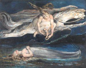 """William Blake - """"Pity"""" ca. 1795"""