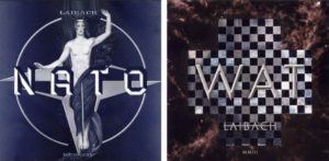 Albums covers for Laibach's NATO and WAT