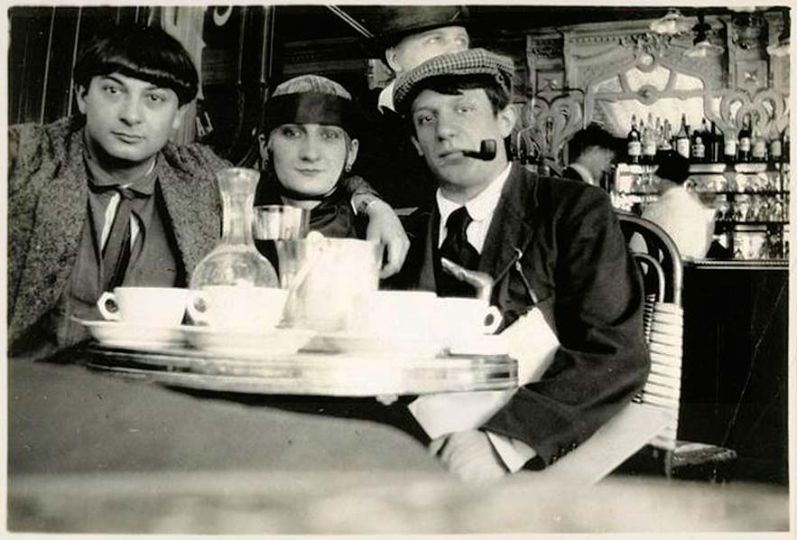Pablo Picasso and Moïse Kisling in Paris, photographed by Jean Cocteau, 12 August 1916