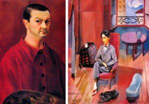 Self-portrait, 1944; Jean Cocteau, 1916