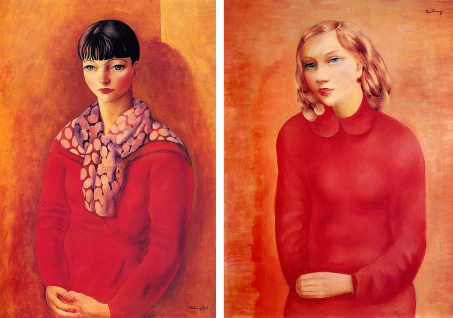 Kiki in a Red Dress, 1933; Portrait of a Girl in a Red Dress, 1935