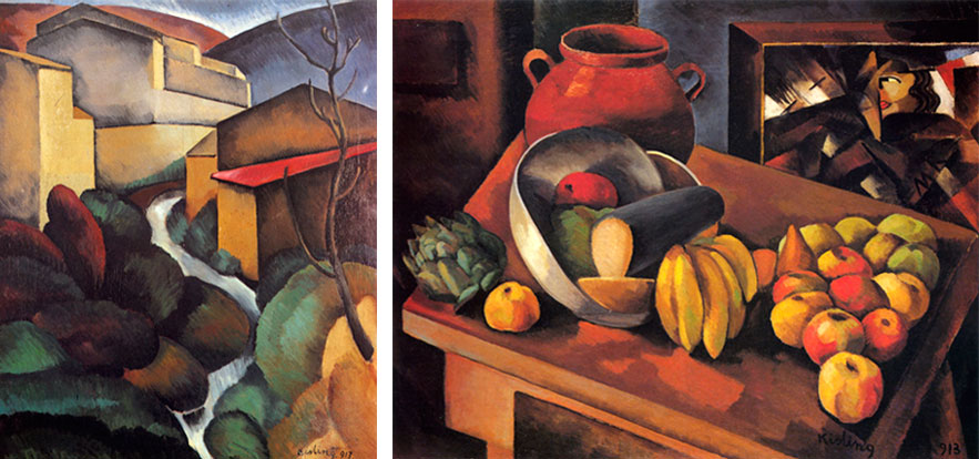 Landscape of Provence, 1913; Still-life with Fruits, 1913