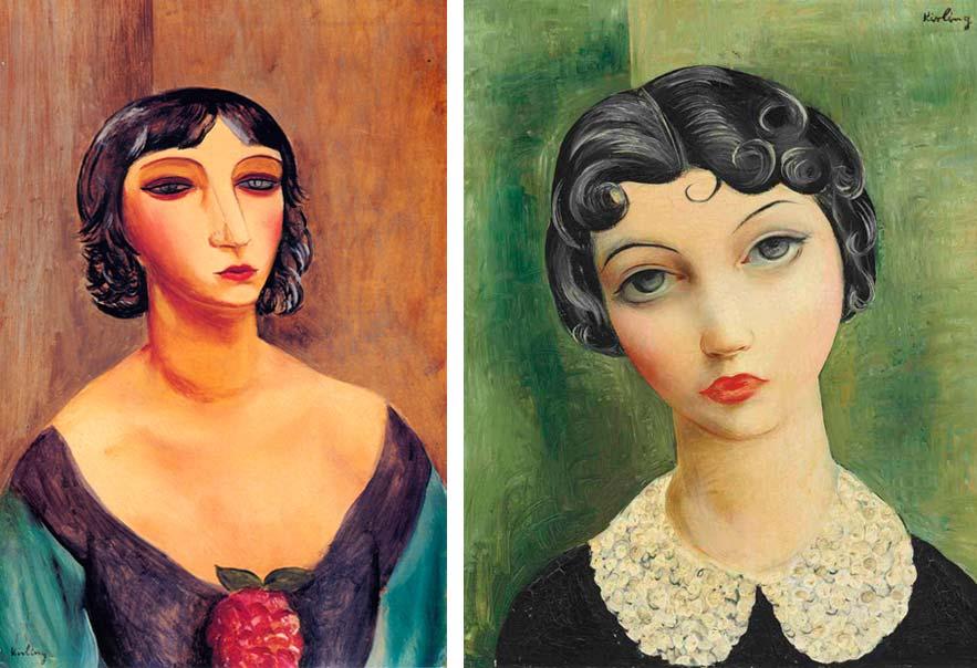 Portrait of Marie Laurencin, 1920; Portrait with a Collar, 1930