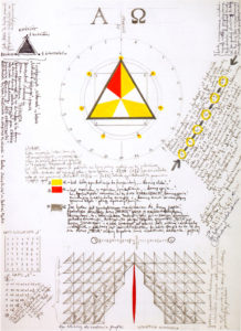 01 Jerzy Grabowski – Alpha and Omega (Mirror Symmetry of Transfigured Signs of the Record of Digit 7), 1987, marker, pencil on paper