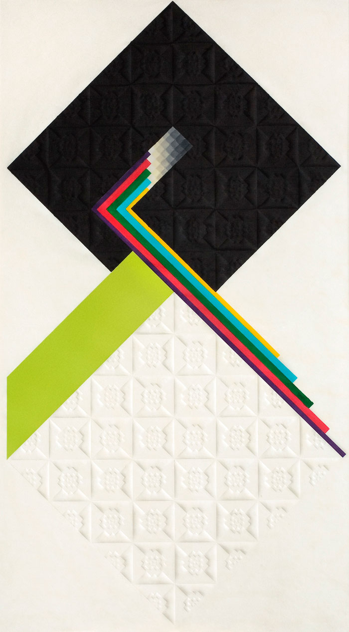 Jerzy Grabowski – Spheres, 1968, relef print, 84 x 45,5 cm