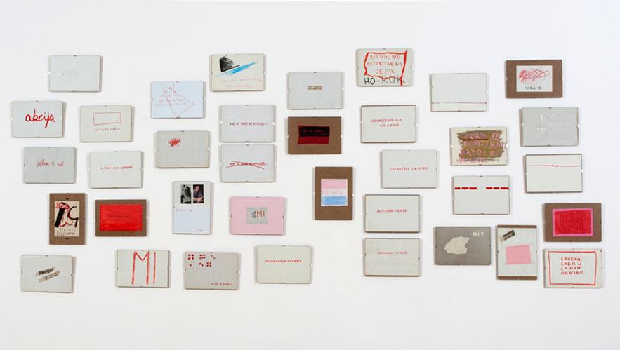 Mladen Stilinović: Red Era, 1973-1990 Ownership: Moderna galerija, Ljubljana Photo: Dejan Habicht (© Moderna galerija, Ljubljana)