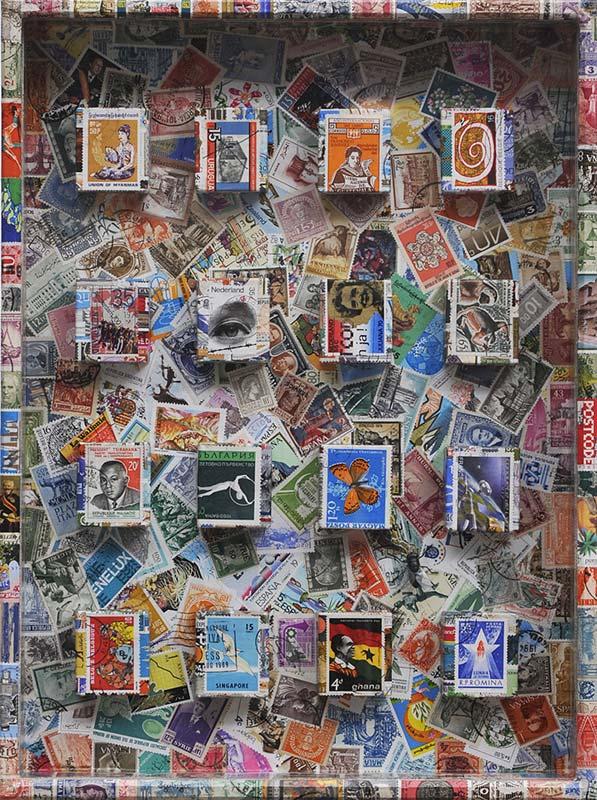 Koji Nagai - Specimen box (with used stamps)