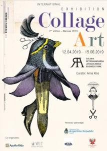 Poster - International Collage Art Exhibition in Poland Retroavangarda Gallery, Warsaw