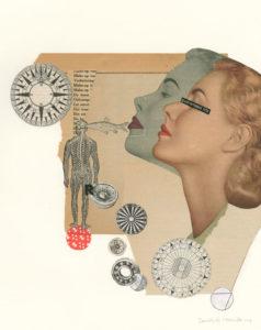 Dorothee Mesander - International Collage Art Exhibition in Poland Retroavangarda Gallery, Warsaw
